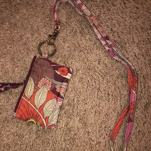 Vera Bradley Wallet and Lanyard